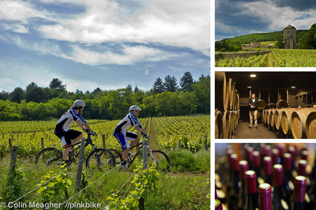 Lapierre is located on the outskirts of Dijon--a mere ten minute pedal from vinyards that produce some of the most expensive wine in the World. These vineyards and the forests that surround them are laced with trails--the same trails that Gilles Lapierre first tried mountain biking on.