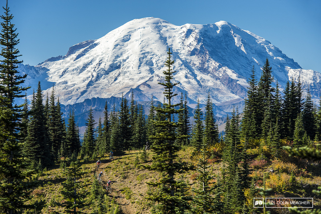 The center of it all: Mt Rainier.